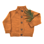 Hand-knit-Merino-Wool-Cardigan-Golden-Spruce-3