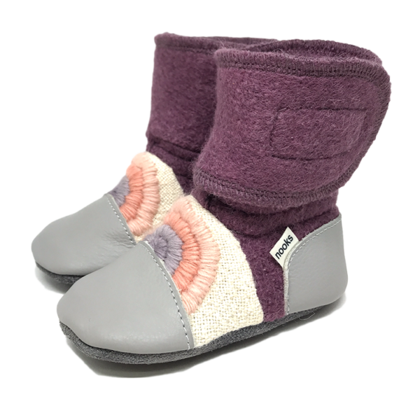 Nooks Design felted wool booties - Dream On rainbow series 3 - 1