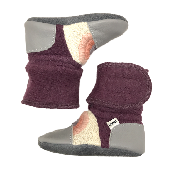 Nooks Design felted wool booties - Dream On rainbow series 3 - 2